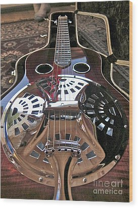 New 6 String Guitar Wood Print by Kathryn Barry