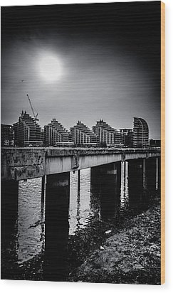 New Apartments Near Battersea Wood Print by Lenny Carter