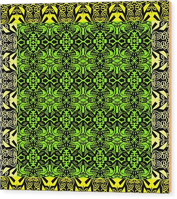 New Art Font 9 Wood Print