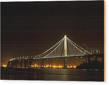 New Bay Bridge Wood Print