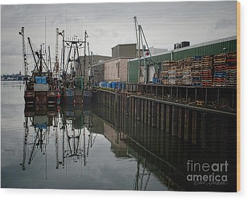 New Bedford Waterfront No. 4 Wood Print by David Gordon