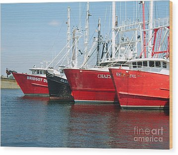 New Bedford's Commercial Fishing Fleet Wood Print