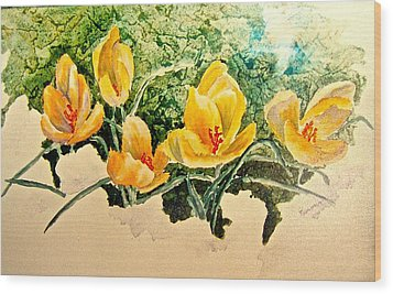 New Beginnings Wood Print by Carolyn Rosenberger