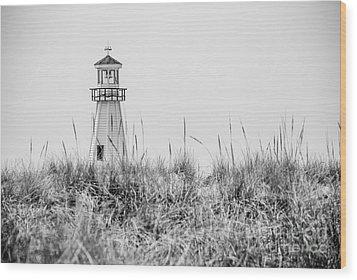 New Buffalo Lighthouse In Southwestern Michigan Wood Print
