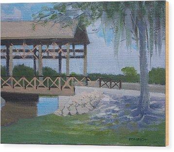 New Covered Bridge Wood Print by Robert Rohrich
