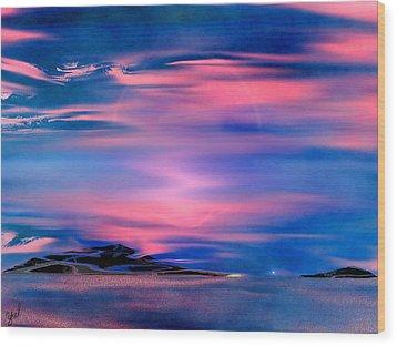 New Dawn Wood Print by Yul Olaivar