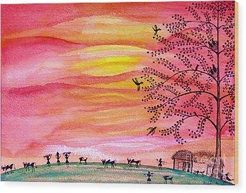 New Day Wood Print by Anjali Vaidya