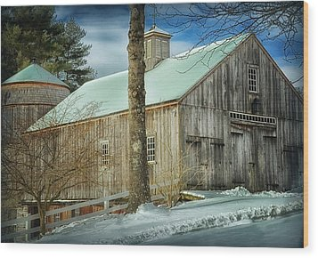 New England Barn Wood Print by Tricia Marchlik