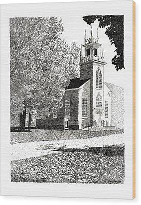 New England Church Wood Print