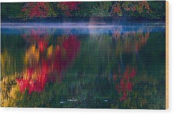 New England Fall Abstract Wood Print by Dapixara photos