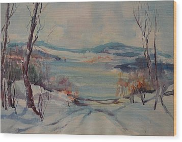 New England Winter Wood Print by Dorothy Campbell Therrien