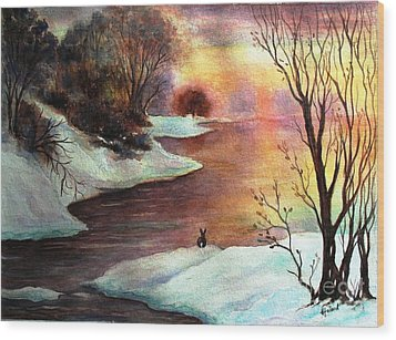 Wood Print featuring the painting New Every Morning  by Hazel Holland