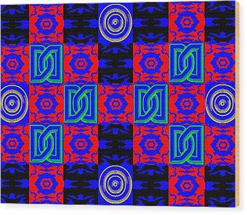 New Font Art 5 Wood Print