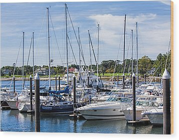 New Hampshire Marina Wood Print