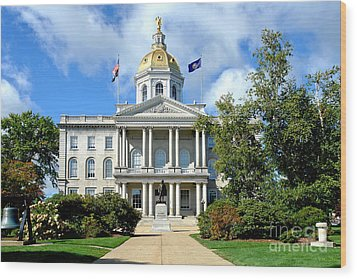 New Hampshire State Capitol Wood Print by Olivier Le Queinec