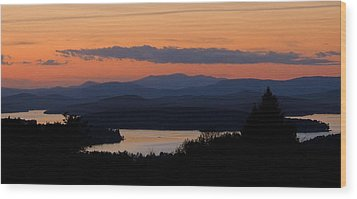 New Hampshire Sunset Wood Print