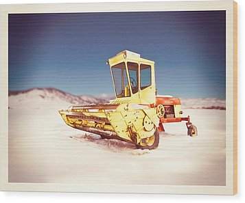 New Holland 910 Windrower Wood Print by Yo Pedro