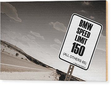 New Limits Sepia Wood Print