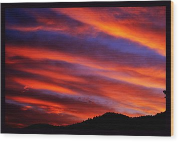 New Mexican Sunrise Wood Print by Susanne Still