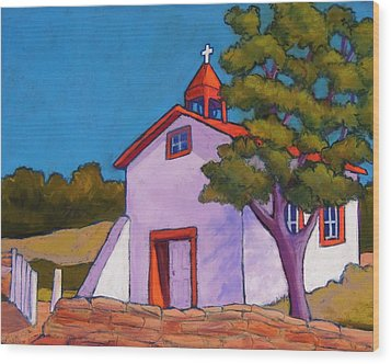 New Mexico Church Wood Print by Candy Mayer