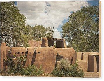 New Mexico Facade # 3 Wood Print