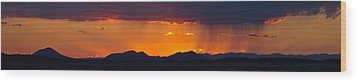 Wood Print featuring the photograph New Mexico Sunset by Atom Crawford