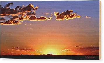 Wood Print featuring the photograph New Mexico Sunset Glow by Barbara Chichester