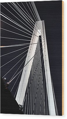 New Mississippi River Bridge Wood Print