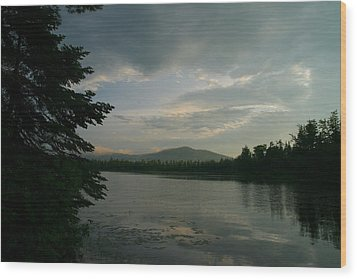 Wood Print featuring the photograph New Morning On Lake Umbagog  by Neal Eslinger