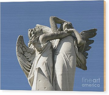 Wood Print featuring the photograph New Olreans Angel 6 by Elizabeth Fontaine-Barr