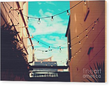 Wood Print featuring the photograph New Orleans Alley by Sylvia Cook