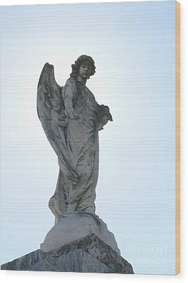 New Orleans Angel 2 Wood Print by Elizabeth Fontaine-Barr