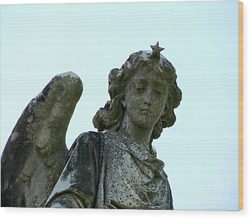 New Orleans Angel 3 Wood Print by Elizabeth Fontaine-Barr
