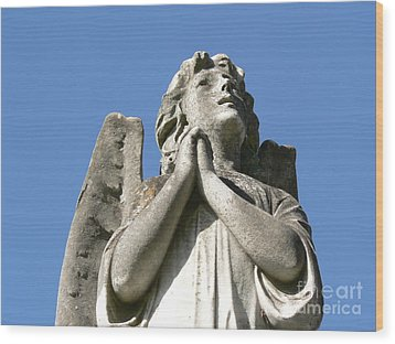 Wood Print featuring the photograph New Orleans Angel 4 by Elizabeth Fontaine-Barr