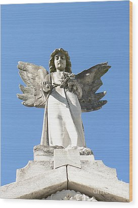 New Orleans Angel 5 Wood Print by Elizabeth Fontaine-Barr