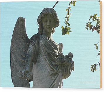 New Orleans Angel 8 Wood Print by Elizabeth Fontaine-Barr