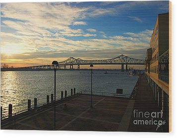 Wood Print featuring the photograph New Orleans Bridge by Erika Weber