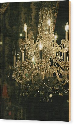 New Orleans Chandelier Wood Print