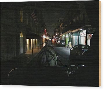 New Orleans - City At Night - 12129 Wood Print by DC Photographer