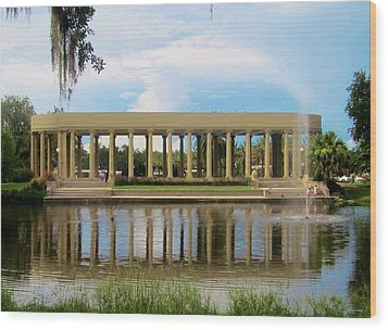 New Orleans City Park - Peristyle Wood Print by Deborah Lacoste