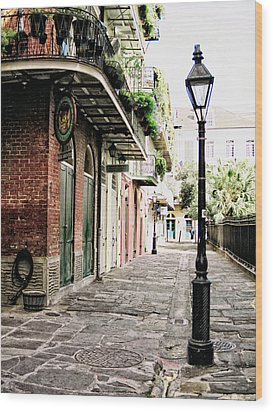 Wood Print featuring the photograph New Orleans Cobblestone by Heather Green