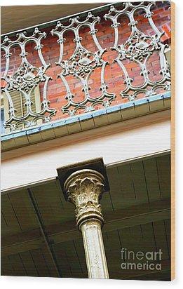 New Orleans Column Wood Print by Carol Groenen