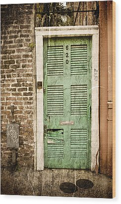 Wood Print featuring the photograph New Orleans Doorway by Ray Devlin