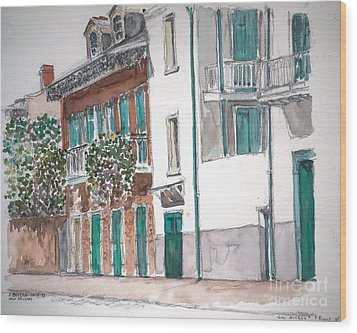 New Orleans Gov. Nichols And Royal St Wood Print by Anthony Butera