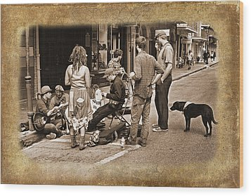 New Orleans Gypsies - Antique Wood Print by Judy Vincent