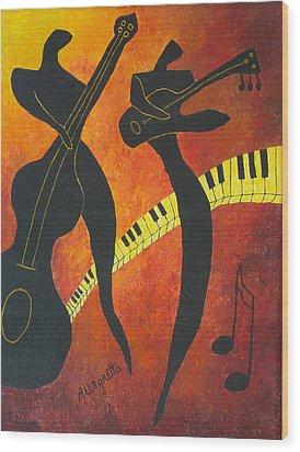 New Orleans Jazz Wood Print by Pamela Allegretto