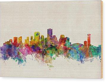 New Orleans Louisiana Skyline Wood Print by Michael Tompsett