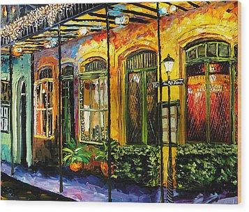 New Orleans Original Painting Wood Print by Beata Sasik