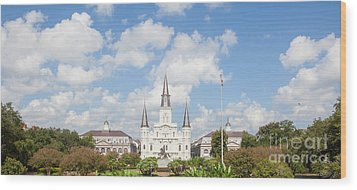 New Orleans Panorama Wood Print by Kay Pickens