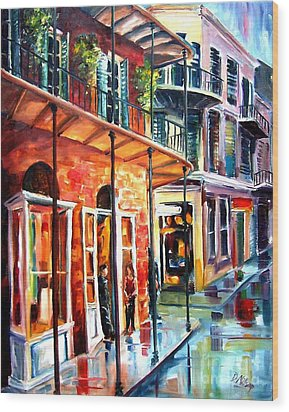 New Orleans Rainy Day Wood Print by Diane Millsap